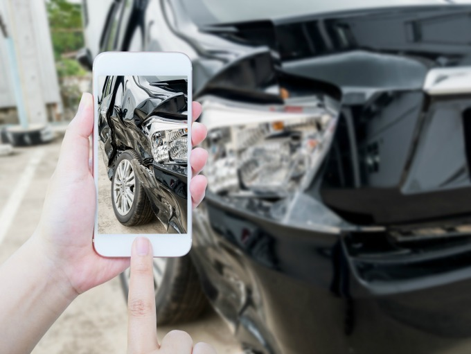 You should always take pictures of the damage from the car accident for documentation.